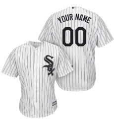 Men's Chicago White Sox Majestic White/Black Home Cool Base Custom Jersey