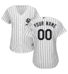 Women's Chicago White Sox Majestic White/Black Home Cool Base Custom Jersey