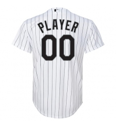Youth Chicago White Sox White Home Replica Custom Jersey