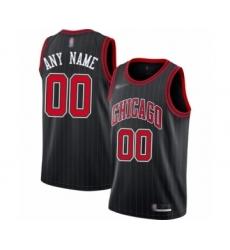 Youth Chicago Bulls Customized Swingman Black Finished Basketball Jersey - Statement Edition