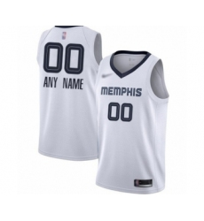 Youth Memphis Grizzlies Customized Swingman White Finished Basketball Jersey - Association Edition