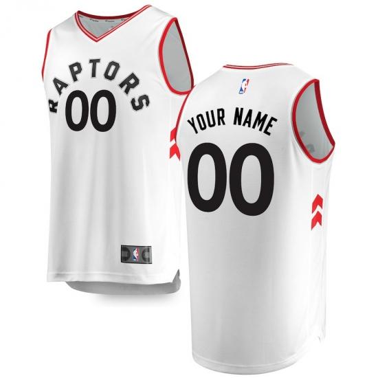 6289276d8 Men s Toronto Raptors Fanatics Branded White Fast Break Custom Replica  Jersey - Association Edition