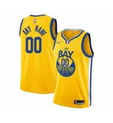 Youth Golden State Warriors Customized Swingman Gold Finished Basketball Jersey - Statement Edition