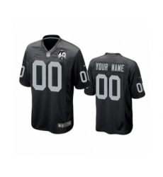 Youth Oakland Raiders Customized Black 60th Anniversary Game Jersey