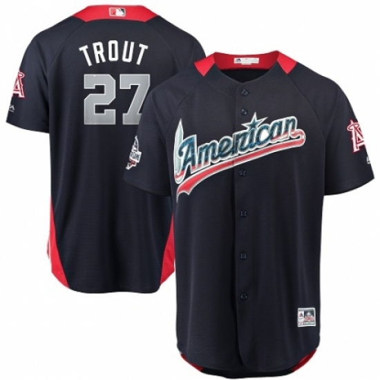 Youth Majestic Los Angeles Angels of Anaheim  27 Mike Trout Game Navy Blue  American League 24c1b991e