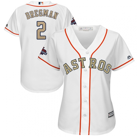 best service d0429 4615f Women's Majestic Houston Astros #2 Alex Bregman Authentic ...