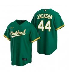 Men's Nike Oakland Athletics #44 Reggie Jackson Green Alternate Stitched Baseball Jersey