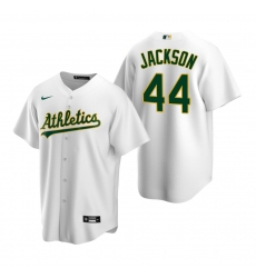 Men's Nike Oakland Athletics #44 Reggie Jackson White Home Stitched Baseball Jersey