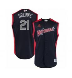 Youth Arizona Diamondbacks #21 Zack Greinke Authentic Navy Blue National League 2019 Baseball All-Star Jersey