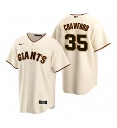 Men's Nike San Francisco Giants #35 Brandon Crawford Cream Home Stitched Baseball Jersey