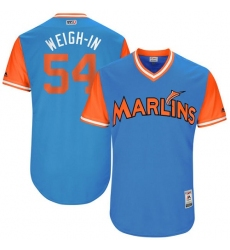 Men's Majestic Miami Marlins #54 Wei-Yin Chen