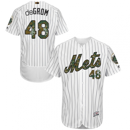 591c35bd ... Base MLB Jersey. Product details. Men's Majestic New York Mets #48  Jacob deGrom Authentic White 2016 Memorial Day Fashion Flex