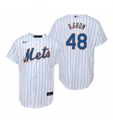 Men's Nike New York Mets #48 Jacob deGrom White Home Stitched Baseball Jersey