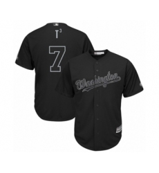 Men's Washington Nationals #7 Trea Turner  T3  Authentic Black 2019 Players Weekend Baseball Jersey