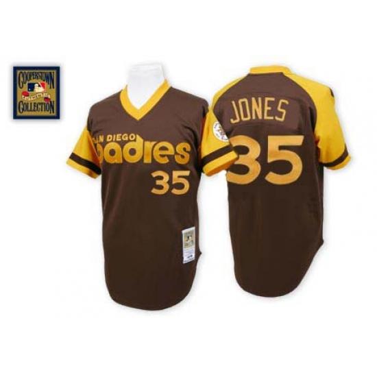 best service c5c97 581d3 Men's Mitchell and Ness San Diego Padres #35 Randy Jones ...