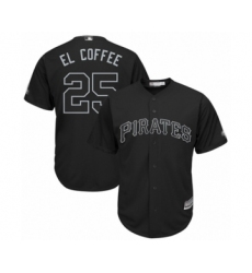 Men's Pittsburgh Pirates #25 Gregory Polanco  El Coffee  Authentic Black 2019 Players Weekend Baseball Jersey