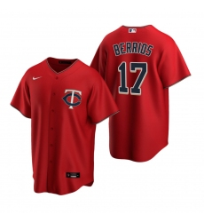 Men's Nike Minnesota Twins #17 Jose Berrios Red Alternate Stitched Baseball Jersey