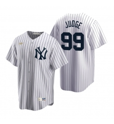 Men's Nike New York Yankees #99 Aaron Judge White Cooperstown Collection Home Stitched Baseball Jersey