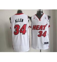 7670a268c Revolution 30 Heat  34 Ray Allen White Stitched NBA Jersey