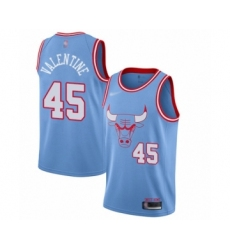 Men's Chicago Bulls #45 Denzel Valentine Swingman Blue Basketball Jersey - 2019 20 City Edition