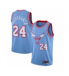 Men's Chicago Bulls #24 Lauri Markkanen Swingman Blue Basketball Jersey - 2019 20 City Edition