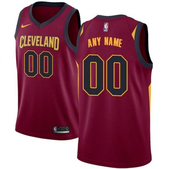 Men s Cleveland Cavaliers Nike Maroon Swingman Custom Jersey - Icon Edition 68bbc8309