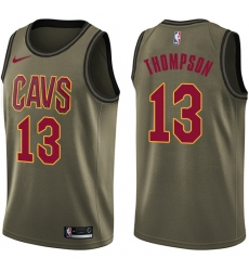 Men's Nike Cleveland Cavaliers #13 Tristan Thompson Swingman Green Salute to Service NBA Jersey