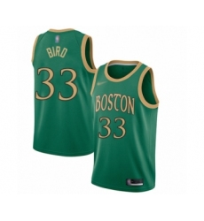 Men's Boston Celtics #33 Larry Bird Swingman Green Basketball Jersey - 2019 20 City Edition