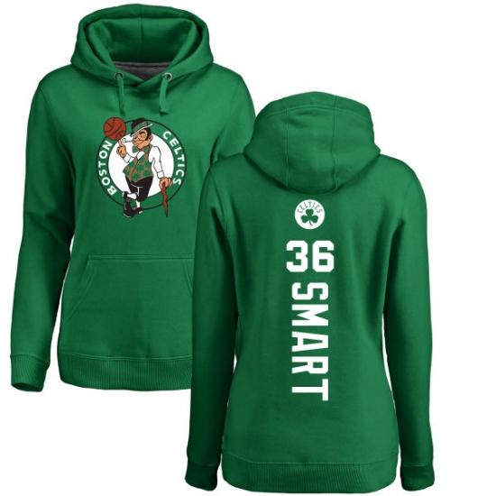 NBA Women s Nike Boston Celtics  36 Marcus Smart Kelly Green Backer  Pullover Hoodie 2477aea48