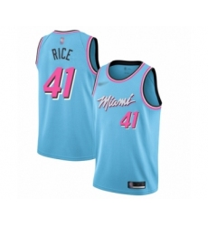 Men's Miami Heat #41 Glen Rice Swingman Blue Basketball Jersey - 2019 20 City Edition