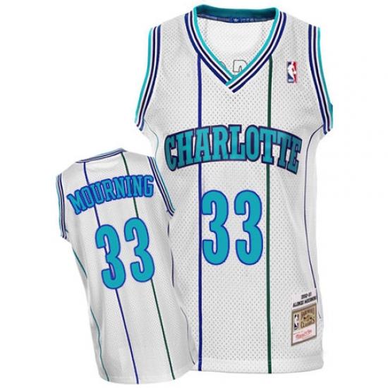 pretty nice f4599 26178 Men's Mitchell and Ness Charlotte Hornets #33 Alonzo ...