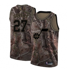 a3823daa8 Men s Nike Utah Jazz  27 Rudy Gobert Swingman Camo Realtree Collection NBA  Jersey