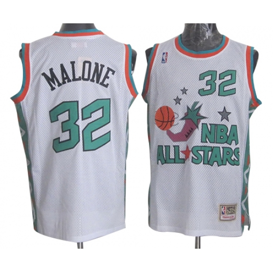 finest selection ea6c8 b19dc Men's Mitchell and Ness Utah Jazz #32 Karl Malone Authentic ...