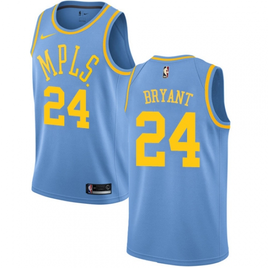 new concept 4dd41 5e450 Men's Nike Los Angeles Lakers #24 Kobe Bryant Swingman Blue ...