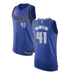 a10a03e58c3 Men's Nike Dallas Mavericks #41 Dirk Nowitzki Authentic Royal Blue Road NBA  Jersey - Icon