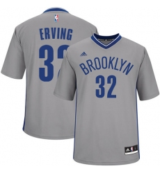 3e8390618 Youth Adidas Brooklyn Nets  32 Julius Erving Swingman Gray Alternate NBA  Jersey