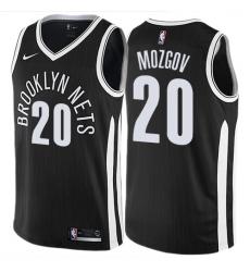 Women s Nike Brooklyn Nets  20 Timofey Mozgov Swingman Black NBA Jersey -  City Edition a7fa2344b