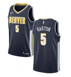 Youth Nike Denver Nuggets #5 Will Barton Authentic Navy Blue Road NBA Jersey - Icon Edition