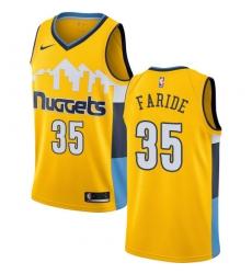 Men's Nike Denver Nuggets #35 Kenneth Faried Swingman Gold Alternate NBA Jersey Statement Edition
