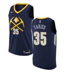 Men's Nike Denver Nuggets #35 Kenneth Faried Swingman Navy Blue NBA Jersey - City Edition