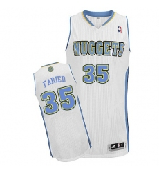 Women's Adidas Denver Nuggets #35 Kenneth Faried Authentic White Home NBA Jersey