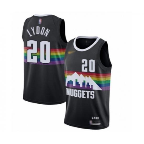 Men's Denver Nuggets #25 Malik Beasley Swingman Black Basketball Jersey - 2019 20 City Edition