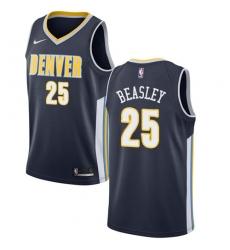 Men's Nike Denver Nuggets #25 Malik Beasley Swingman Navy Blue Road NBA Jersey - Icon Edition