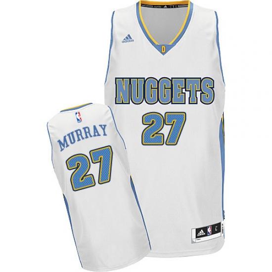 info for 8f8aa c82e1 Men's Adidas Denver Nuggets #27 Jamal Murray Swingman White ...