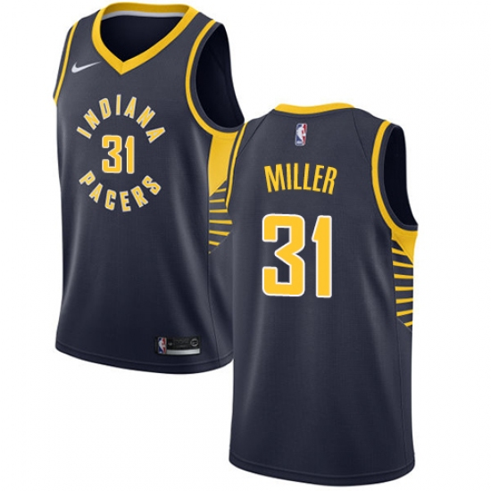 Men s Nike Indiana Pacers  31 Reggie Miller Authentic Navy Blue Road NBA  Jersey - Icon 391ad3224