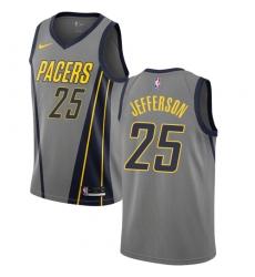 Men s Nike Indiana Pacers  25 Al Jefferson Swingman Gray NBA Jersey - City  Edition 0ae0bdda1