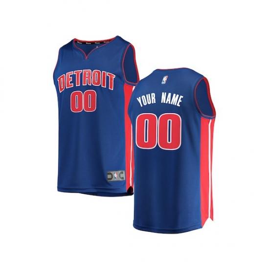 detailed look 73557 17d7d Youth Detroit Pistons Fanatics Branded Blue Fast Break ...