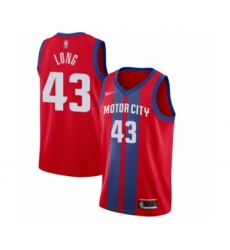 Men's Detroit Pistons #43 Grant Long Swingman Red Basketball Jersey - 2019 20 City Edition