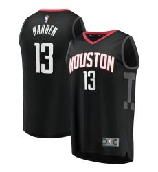 Men's Houston Rockets #13 James Harden Fanatics Branded Black 2020-21 Fast Break Player Jersey