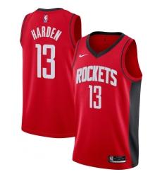 Men's Houston Rockets #13 James Harden Nike Red 2020-21 Swingman Jersey